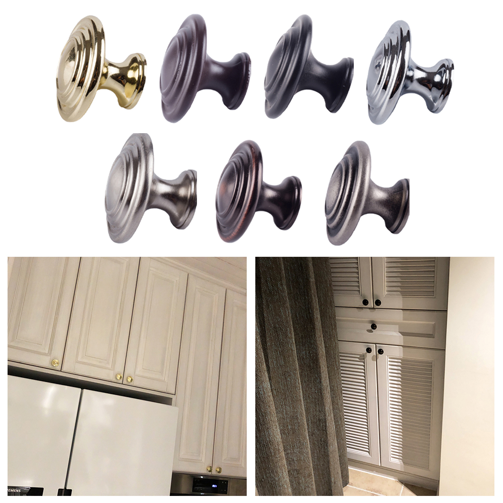 Cabinet Handle House Furniture Traditional Vintage Door Handle Kitchen Cupboard Wardrobe Drawer Knob Durable Furniture Accessory