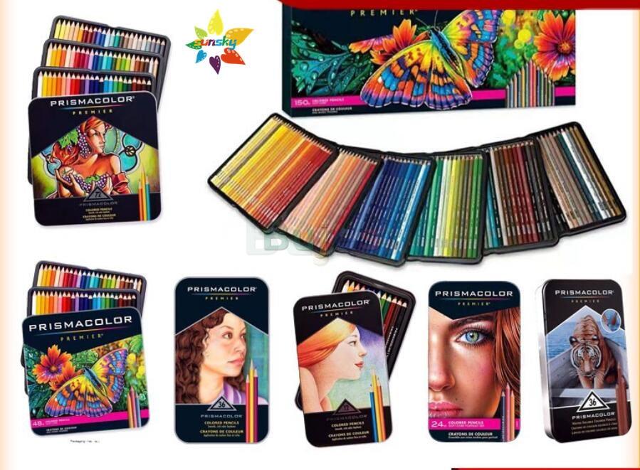 Американский оригинальный карандаш Prismacolor Premier 12/24/48/72/132/150 цвета lapis de cor карандаш sanford prismacolor, сделанный в Мексике