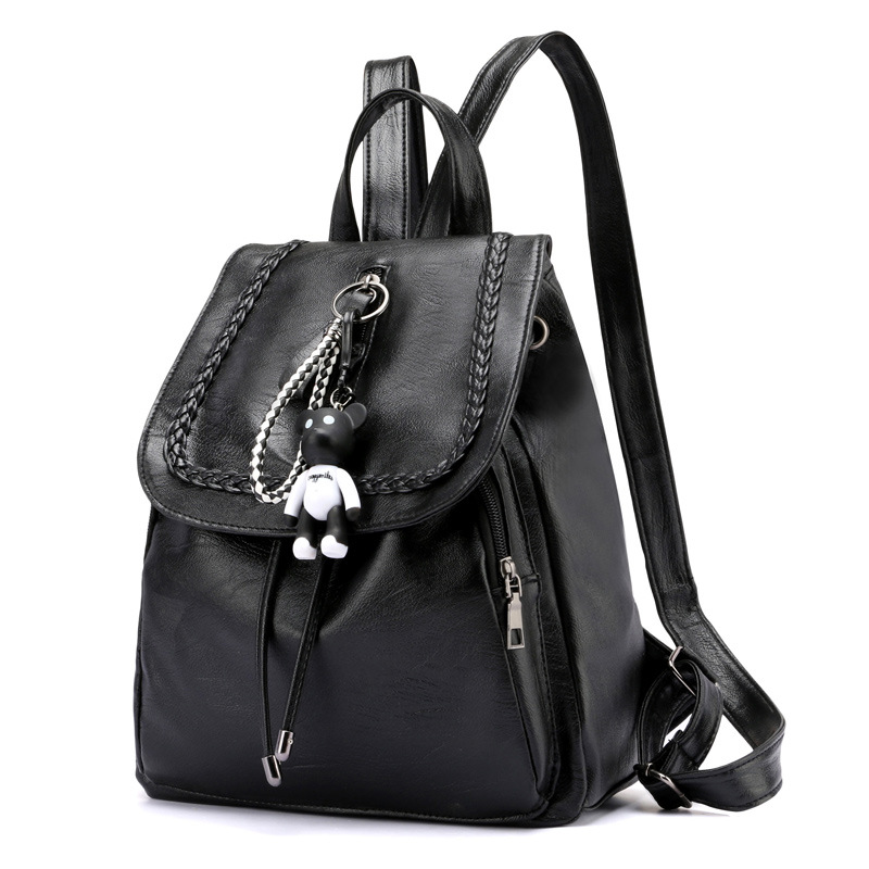 Dillon Hot Celebrity Style Bear Gua Jian New Style Backpack WOMEN'S Bag Korean-style Bucket Bag Casual Versatile Wholesale 6869