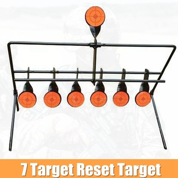 7 Resetting Target with Portable Design and Shooting Spots Rated for .22 Rimfire Paintball Accessories