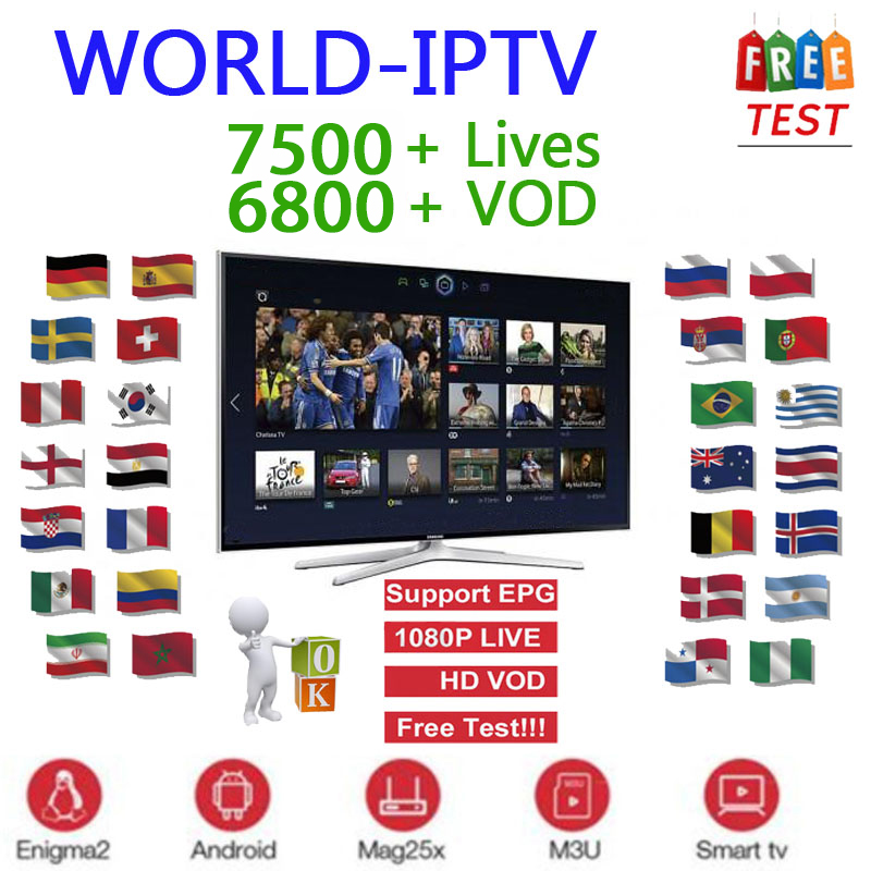 Iptv Subscription Europe Full  Iptv Spain French Include VOD Adult Channels Work For Smart Tv Iptv M3U Android Device