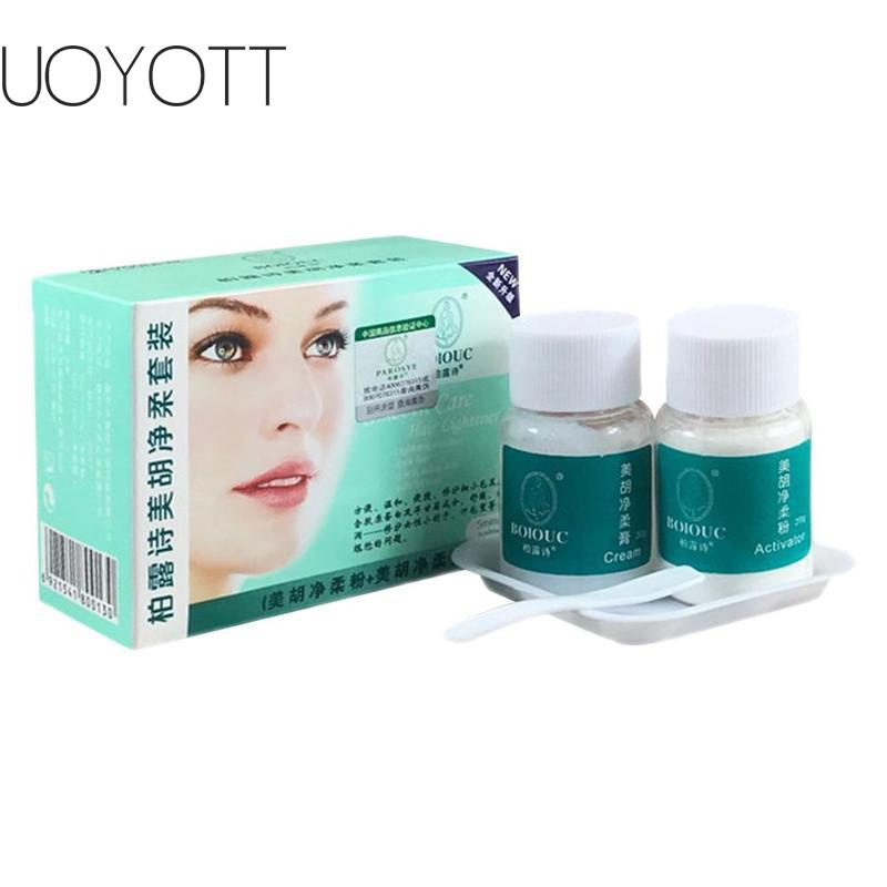 Facial Hair Bleaching Cream Eye Brow Cream Lighten Dark Hair Women Mustache Remove Eye Brow Bleach Fast Permanent