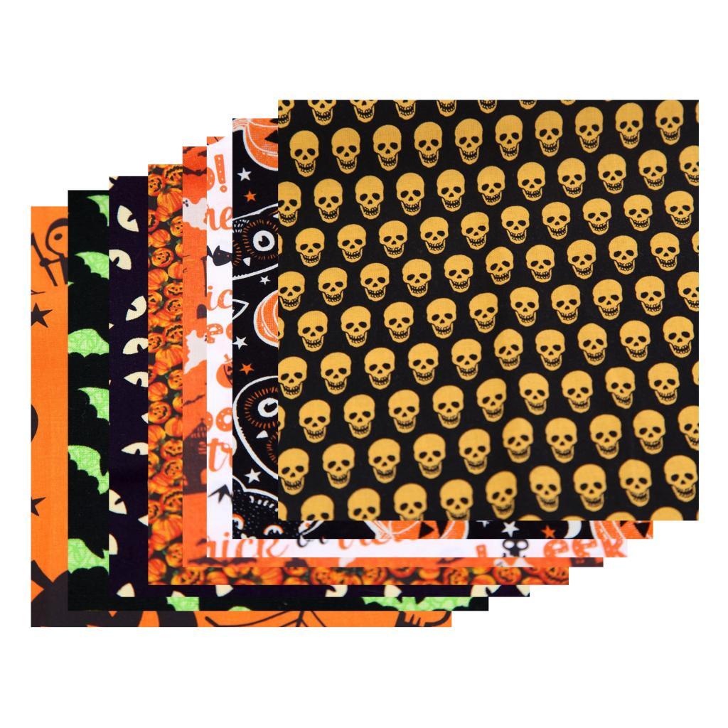 16 шт 25 см 50 100% хлопок ткань кошка сова Тыква черепа Хэллоуин