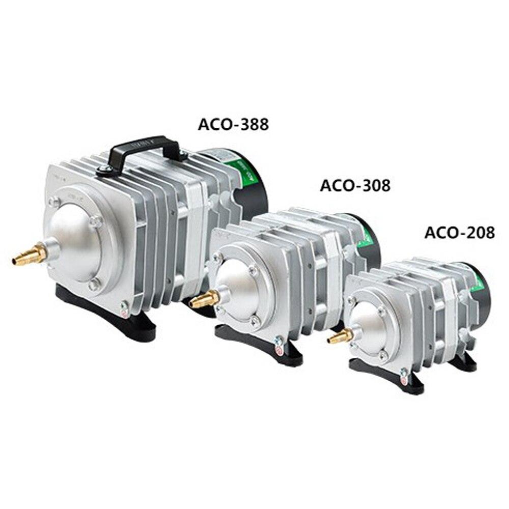 Аквариум 220 В внешний мощный AC электромагнитный насос для пруда пруд с рыбой кислородный насос компрессор для рыбного пруда воздушный насос...