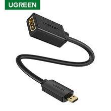 UGREEN Micro HDMI Adapter High-Speed Männlichen zu Weiblichen HD 4K 3D für Raspberry Pi 4 GoPro Mini HDMI zu HDMI adapter 22cm HDMI Kabel