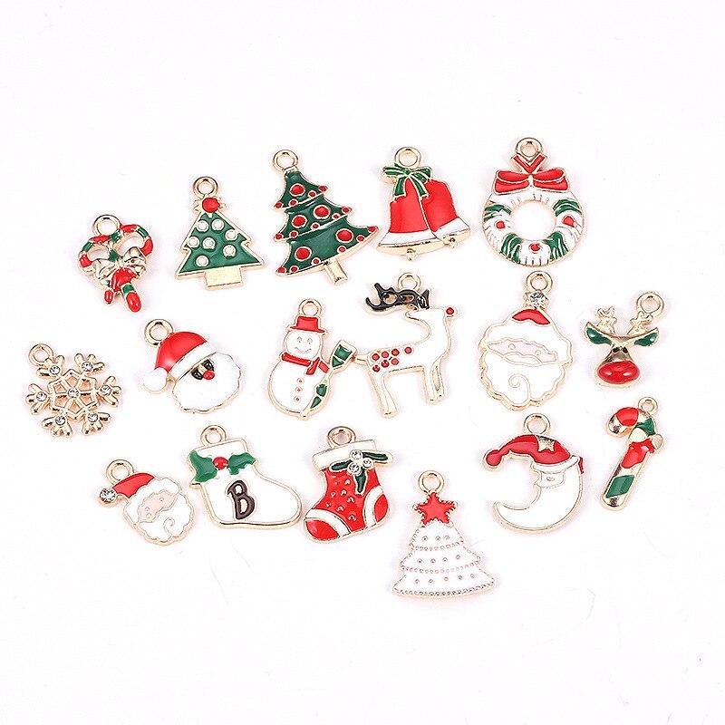 10 шт/упак Рождественские Подвески diy со снежинками и дерево
