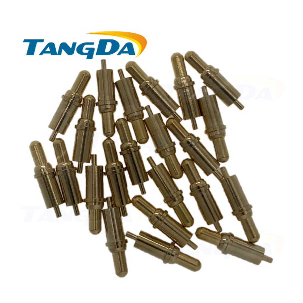 Tangda Connector Pogopin Probe Spring Needle Electronic Contact Connectors Contact Needle Power Pin 3.5*12.3 Mm Solder A