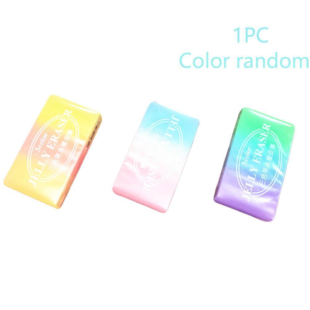 3Pcs Limit Shows Cute Three-color Jelly Color Eraser Student Bomb Color Eraser Jelly Supplies Three-dimensional School Q Cr V8G6
