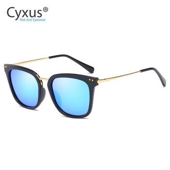 Cyxus, gafas de sol clásicas UV 400 polarizadas con espejo, de gran tamaño gafas de sol, gafas de sol con protección UVB UVA para mujeres-1913