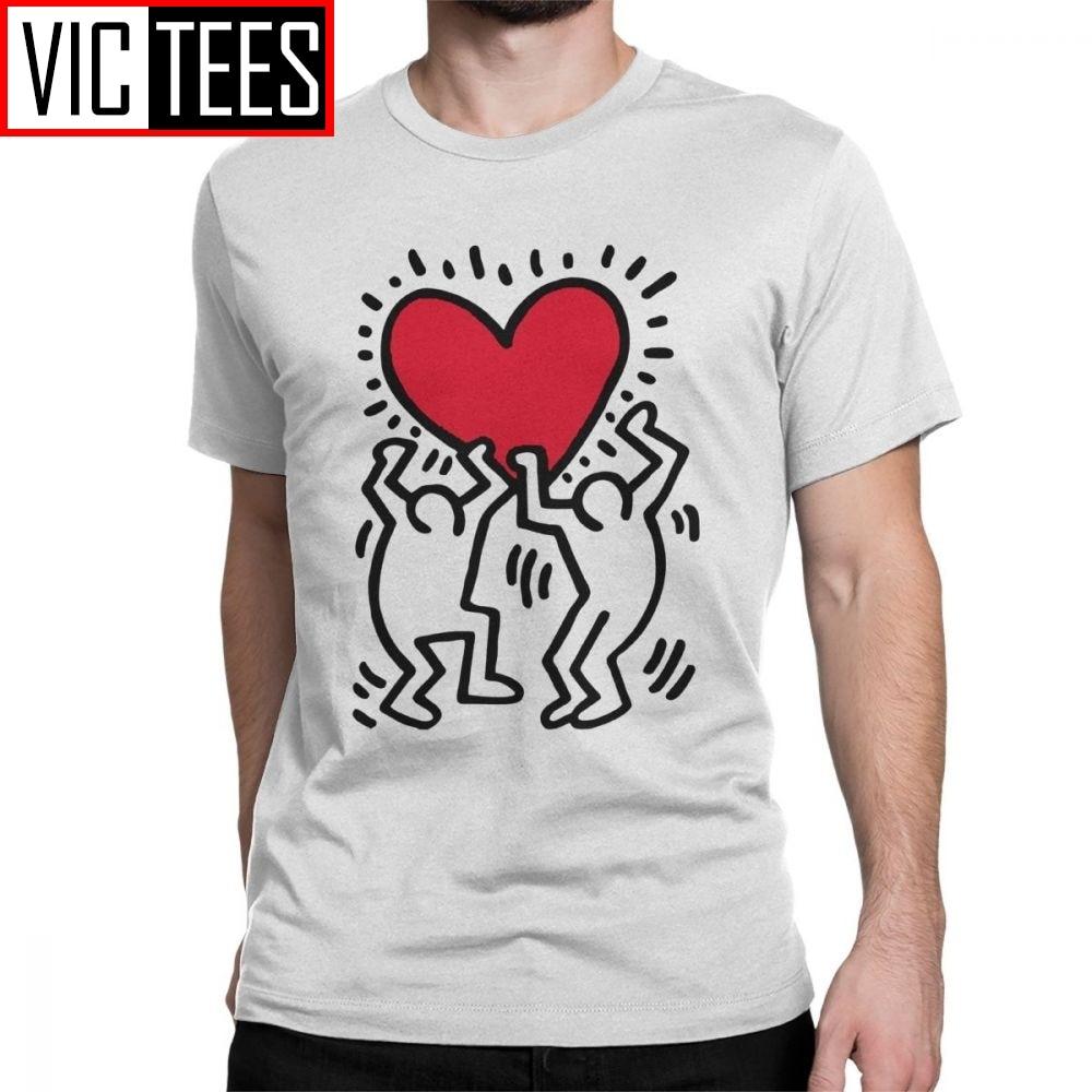 Men Keith Haring T Shirt 100 Premium Cotton  Clothing Vintage Print Short Sleeve Round Collar Tees Unique T-Shirt