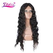 Lydia 60 см длинные волнистые синтетические Косплей парики с