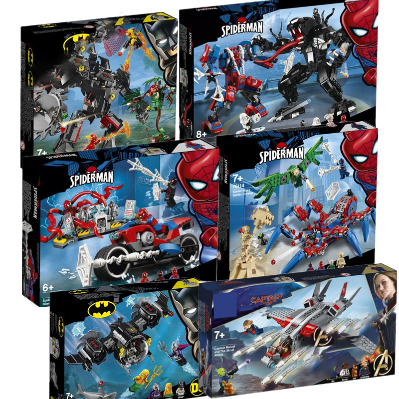 Avengers 4 Endgame Spider Man Batman Legoinglys Marvel Avengers Set 76113 76114 76115 76119 Building Blocks Brick Toys Children