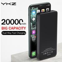 YKZ 전원 은행 20000mAh 휴대용 외부 배터리 충전기 모바일 Powerbank PD 빠른 충전 Poverbank Xiaomi mi Pover Bank