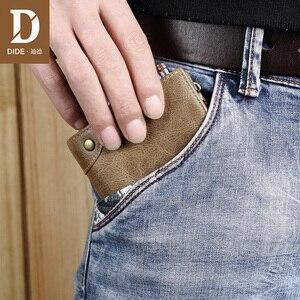 Image 5 - DIDE marka inek derisi erkek cüzdan erkek çanta kısa hakiki deri fermuar bozuk para cüzdanı cüzdan kart tutucu güzel hediye kutusu