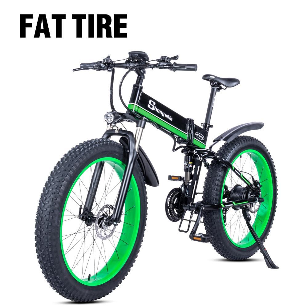 Vélo électrique 1000W électrique gros vélo plage vélo Cruiser vélo électrique ebike électrique VTT vélo pliant électrique