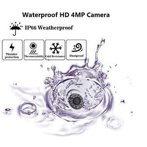 Image 4 - Home Security CCTV Kamera System 5MP AHD DVR System Kit + 16CH Leds 40M IR Nachtsicht Zimmer Metall IP66 Dome 4MP Kamera 10*10*10cm