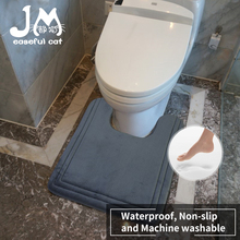 Bathroom Carpet-Machine Toilet Mat Memory Wash Water-Absorbent Anti-Slip U-Shaped Quick-Drying