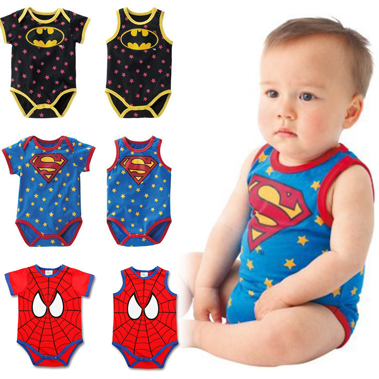 New Born Clothes Summer Ropa De Bebe Newborn Baby Boy Girls Spiderman Romper Vest Superman Romper Infant Baby Cartoon Romper Rompers Aliexpress