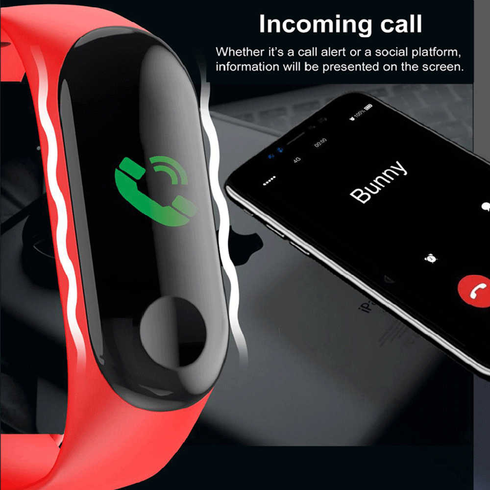 M3 plus pulseira inteligente saúde pressão arterial à prova dwaterproof água relógio inteligente m3 pro bluetooth pulseira de fitness rastreador