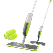 Magic Spray Mop Wooden Floor with Reusable Microfiber Pads 360 Degree Handle Home Windows Kitchen Mop Sweeper Broom Clean Tools(China)