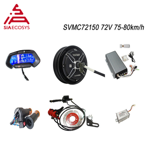 QS Motor 10*2.15inch 3000W 205 V3 BLDC motor kits 72-80Kphwith SVMC72150 controller OR KLS7230S controller for ectric scooter