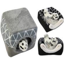 Cama para animais de estimação para gatos cães ninho macio canil cama caverna casa dormir saco esteira almofada tenda animais de estimação inverno quente camas acolhedoras gato tenda sofá cama