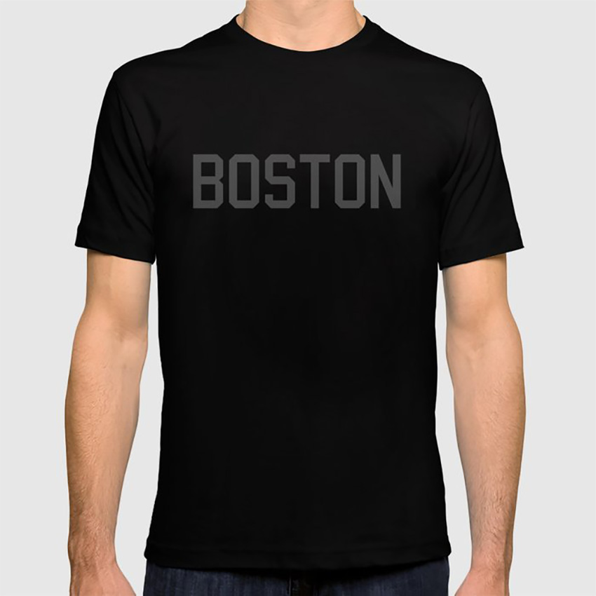 Boston T Shirt Boston <font><b>Massachusetts</b></font> Irish American Men Red Students Teachers College University image