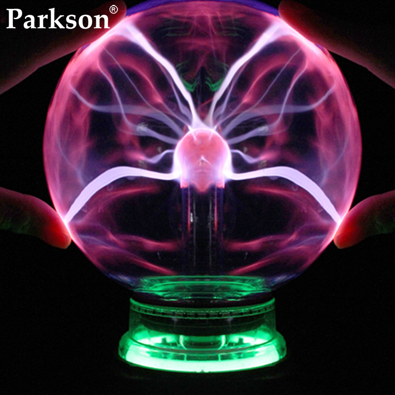 Novelty Glass Magic Plasma Ball Light 3 4 5 6 Inch Electric Lamp Night Light Christmas Kids Gift Table Lights Sphere Plasma Lamp