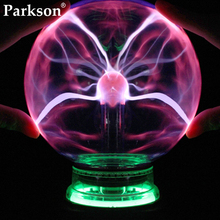 цена на Novelty Glass Magic Plasma Ball Light 3 4 5 6 Inch Electric Lamp Night Light Christmas Kids Gift Table Lights Sphere Plasma Lamp