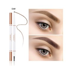 Very Fine Double-Headed Eyebrow Pencil Rotary Waterproof And Sweat-Proof Is Not Blooming Eyebrow Powder Eyebrow Brush eyebrow pencil waterproof sweat proof dye beginners use two headed eyebrow brush eyebrow knife eyebrow clip tweezer sets