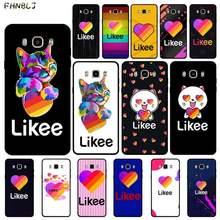 FHNBLJ Likee-funda de teléfono con estampado DIY de corazón de amor y oso gato para Samsung J4 PLUS J7PRO J5 J6 J7 PRIME J7 neo 2016 2018 J8
