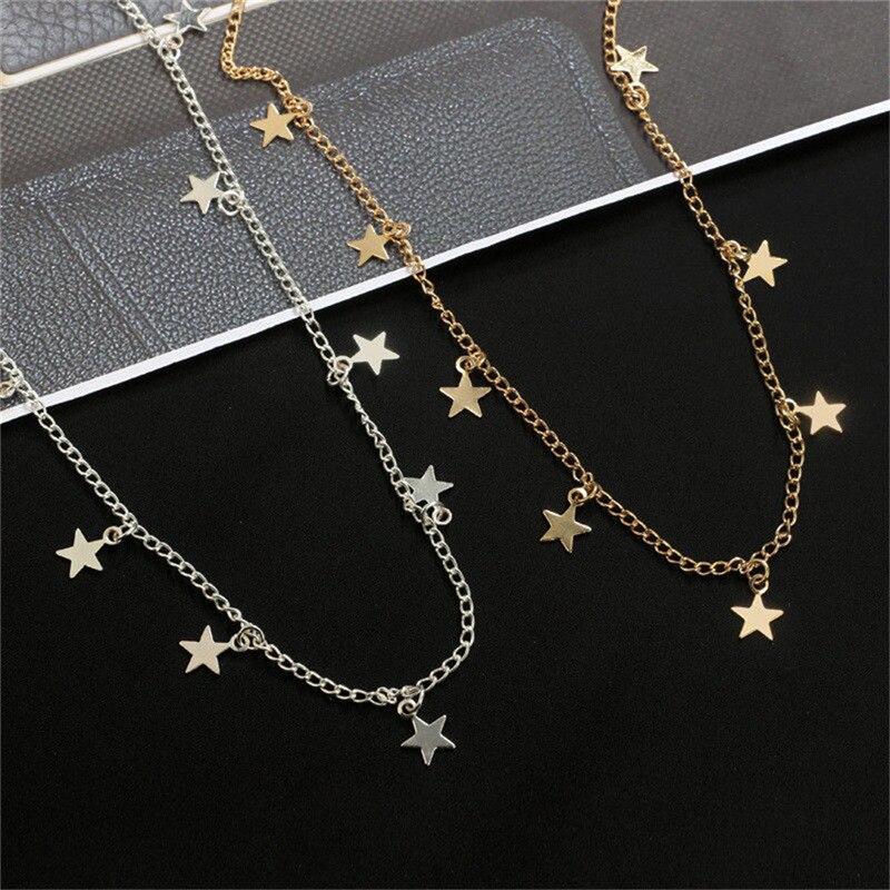 """acero inoxidable Collar y colgante oros Design /""""estrella/"""" señora"""
