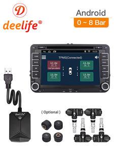 Deelife Alarm Monitoring-System-Display Multimedia-Player Tire-Pressure 4-Sensors Android