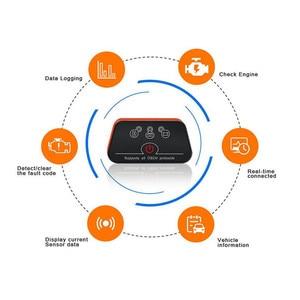 Image 2 - Wifi/Bluetooth OBD2 Diagnostic Tool Voor Ios Iphone/Android Obdii Code Reader Motor Bluetooth Versie Obdii Protocollen Voor bmw