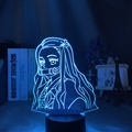 Фигурка Kimetsu No Yaiba Nezuko Kamado, светодиодный ночник для спальни, декор, светильник, детский Настольный 3d светильник, подарок для убийцы демонов