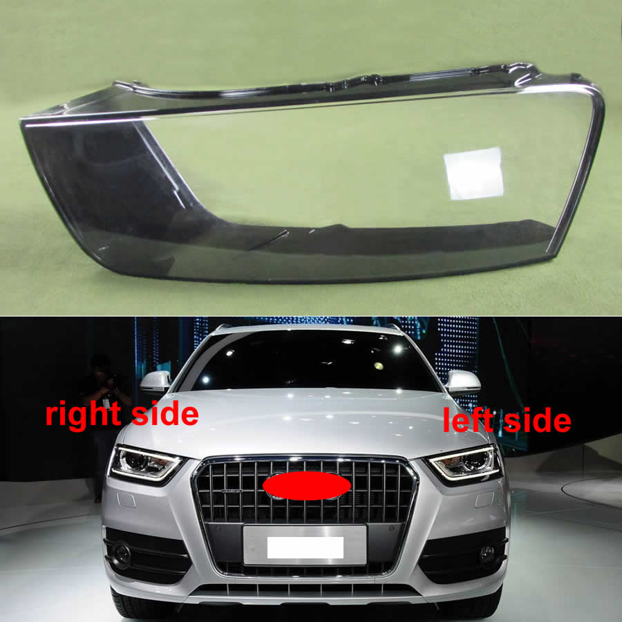 For Audi Q3 2016 2017 Headlight Plastic Cover Transparent Shade Headlight Lens Transparent Shell Lampshade Headlamp Cover