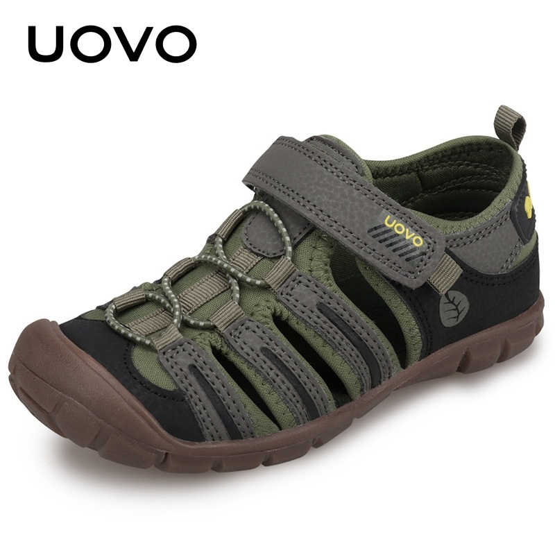 UOVO 2020 New Kids Sandals Boys Summer Fashion Shoes Breathable Little Children Footwear For Boys Beach Sandals Size 28#-32#