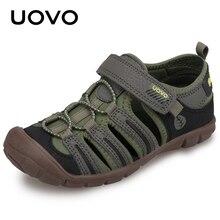 UOVO 2020 جديد صنادل أطفال أحذية الصيف الفتيان أحذية أنيقة تنفس الأطفال الصغار الأحذية للبنين صنادل شاطئ حجم 28 # 32 #