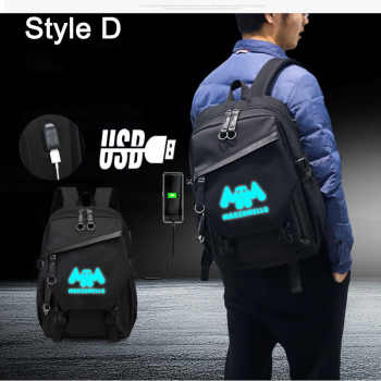 IMIDO Luminous DJ Man Backpacks for Students Back to School Bags Usb Charging Black Travel Shoulders Backpack for Boys Girls