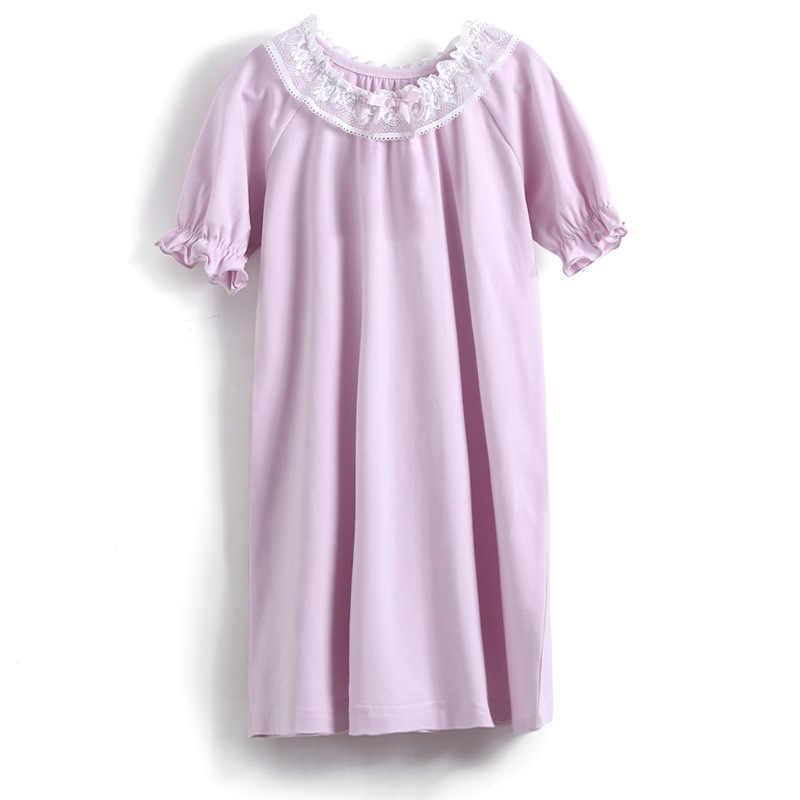 100% bawełna dziewczyny koszule nocne dziecko koszula nocna  S2Lwp