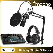 Original MAONO AU-A03 Kondensator Mikrofon Professionelle Podcast Studio Mikrofon Audio 3,5mm Computer Mic Für Llive Streaming
