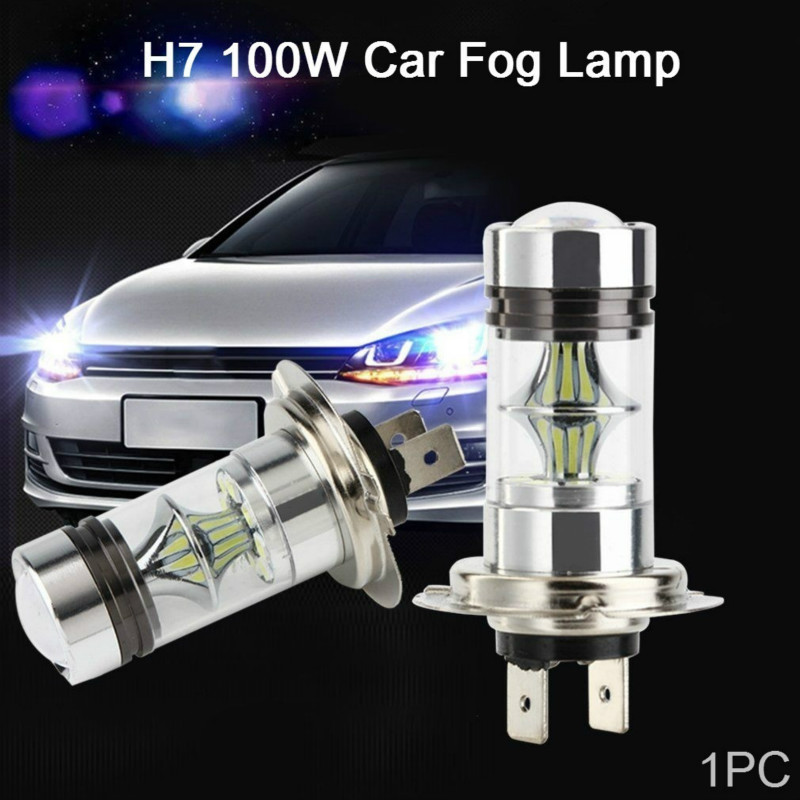 LED HeadLight Bulb FogLight White High Power 100W-Max CREE Chips H7 LED Bulbs For Hyundai On High Beam Lights Car Led Light Bulb