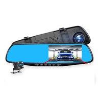 camera for car recording car camera full hd 4.3 inch rearview mirror digital video recorder Double lens 1080P Car DVR Camera