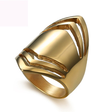New gold color plated finger ring jewelry titanium steel rings fashion casting for women free shipping