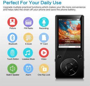 Image 4 - مشغل موسيقى MP3 Bluetooth4.2 مكبر صوت مدمج مع شاشة TFT 2.4 بوصة مشغل صوت بدون فقدان ، يدعم بطاقة SD حتى 128 جيجا بايت