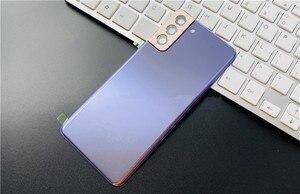 Image 2 - S21Plus tylna pokrywa do Samsung Galaxy S21 Plus obudowa naprawa drzwi baterii wymień tylną obudowę + obiektyw aparatu Logo