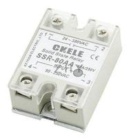 SSR 80AA 80A Single Phase DC to AC Solid State Module Relay w Cover