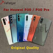 Original nuevo para Huawei P30 Pro Tapa de la batería para cristal de puerta trasera de la vivienda VOG L04 para Huawei P30 de la cubierta de la batería + lente de la cámara