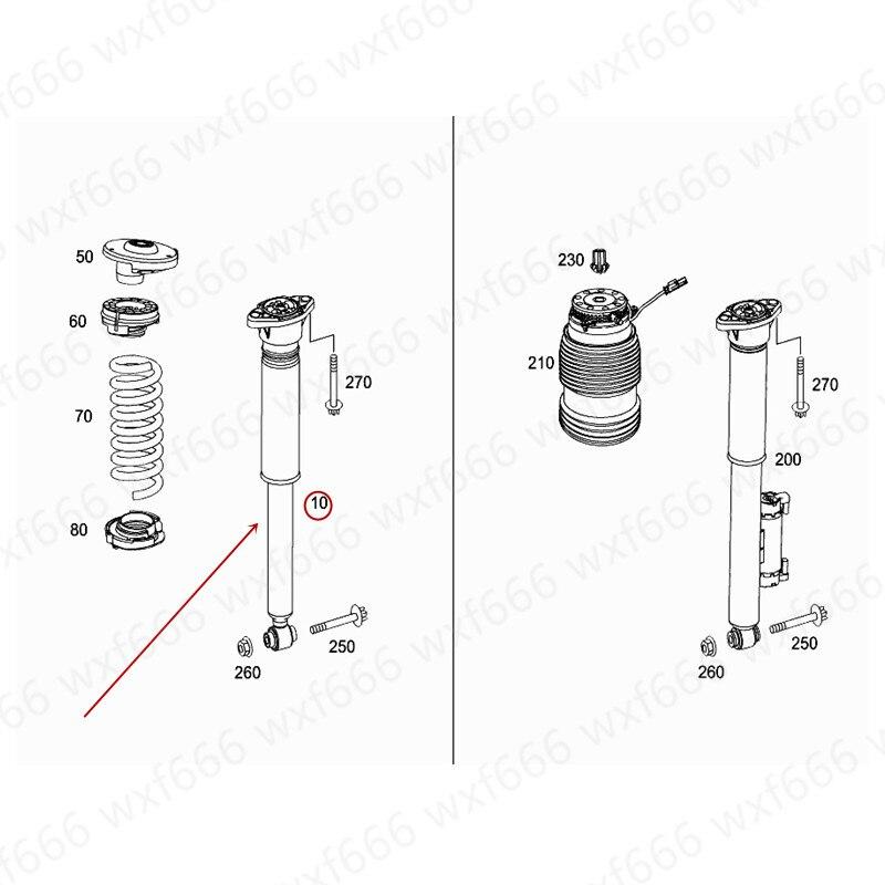 Amortisseur arrière de voiture | Adapté à GLC 200mer ced es-be nzGLC 260 GLC 300 2016-2019 pilier arrière