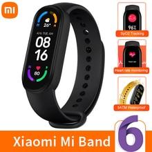 Xiaomi reloj inteligente MI Band 6, Pulsera Original deportiva resistente al agua hasta 5atm, con Bluetooth 5,0, Monitor de sueño y ritmo cardíaco